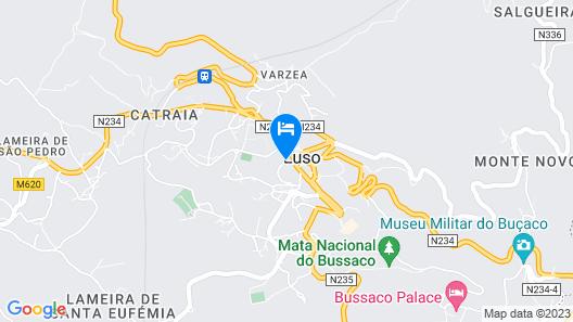Grande Hotel de Luso Map