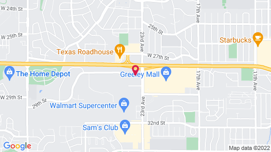 Hampton Inn & Suites Greeley Map