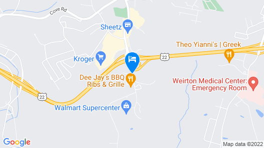 Holiday Inn Weirton, an IHG Hotel Map