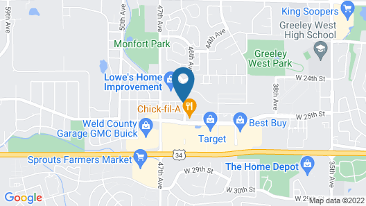 Homewood Suites by Hilton Greeley Map