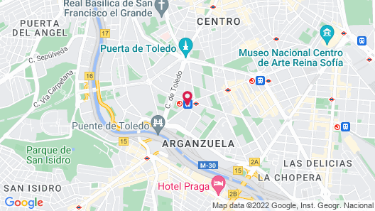 Holiday Inn Madrid - Pirámides Map