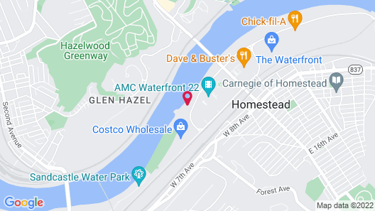 Courtyard by Marriott West Homestead Waterfront Map