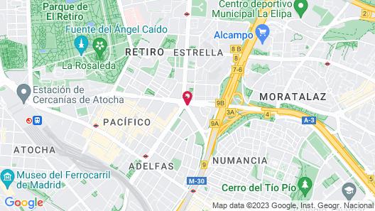 Hotel Claridge Madrid Map