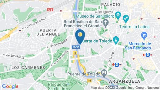 NH Madrid Ribera del Manzanares Map
