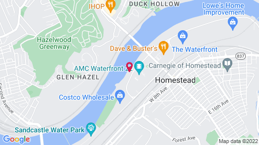 Hampton Inn & Suites Pittsburgh/Waterfront-West Homestead,PA Map