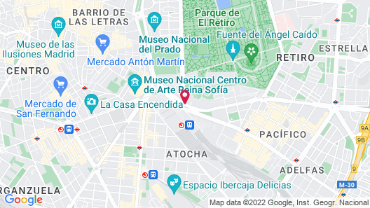 Only YOU Hotel Atocha Map