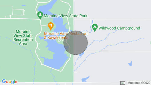 Pet Friendly Cabin at Moraine View State Park/nature Getaway/hunting Map