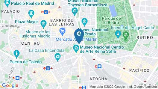 Hotel Paseo del Arte, a member of Radisson Individuals Map