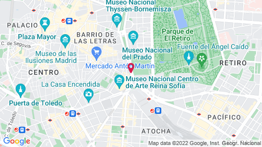 NH Madrid Nacional Map