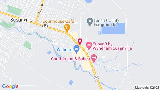 Surestay Plus Hotel by Best Western Susanville Map