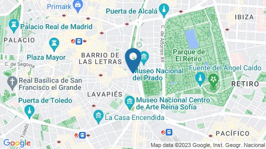 Radisson Blu Hotel, Madrid Prado Map