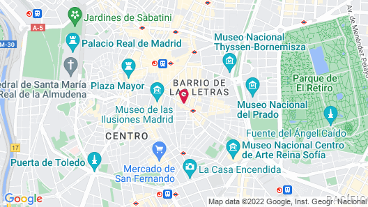 Axel Hotel Madrid - Adults Only Map