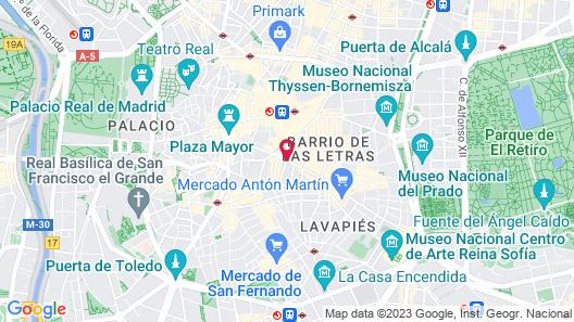 Catalonia Puerta del Sol Map