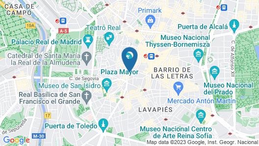 Pestana Plaza Mayor Madrid Map