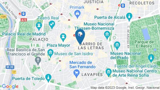 INTER Puerta del Sol Pension Map