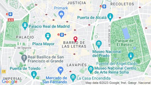 Suite Prado Hotel Map