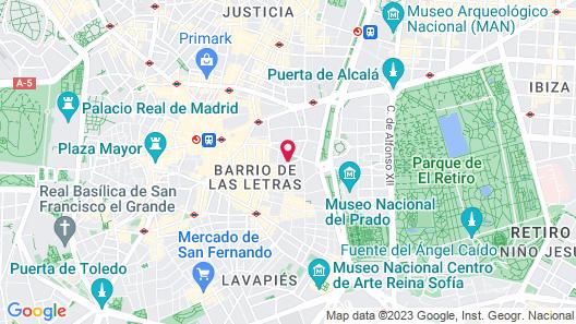 Villa Real Hotel Map