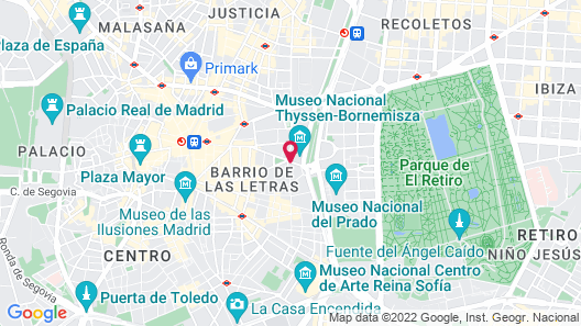 The Westin Palace, Madrid Map