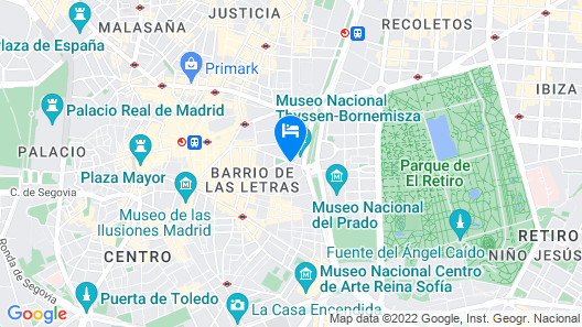 The Westin Palace, Madrid Map