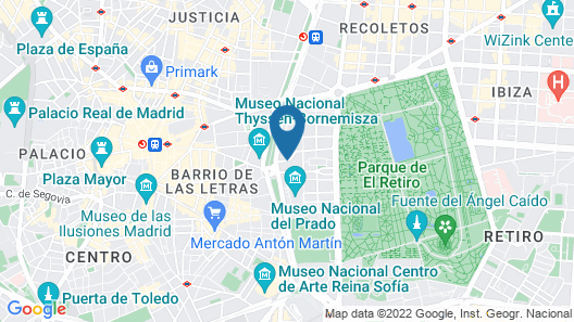 Mandarin Oriental Ritz, Madrid Map