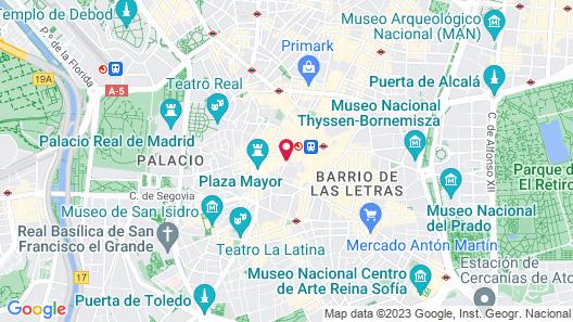 Hostal Madrid Map
