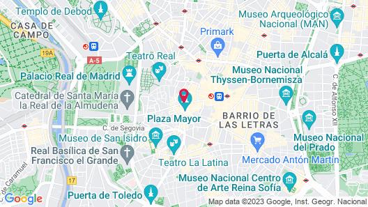 Aspasios Calle Mayor Apartments Map