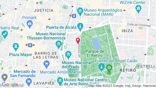 Petit Palace Savoy Alfonso XII Map