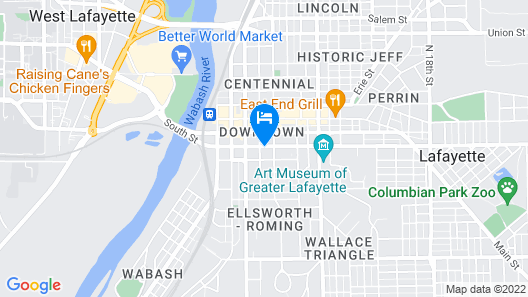 Holiday Inn Lafayette-City Centre, an IHG Hotel Map