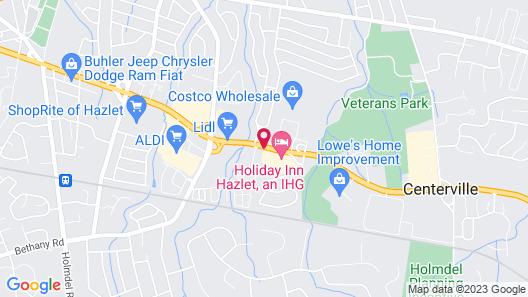 Holiday Inn Hazlet, an IHG Hotel Map