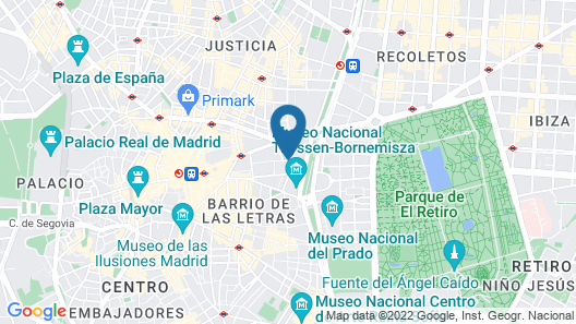 NH Collection Madrid Suecia Map