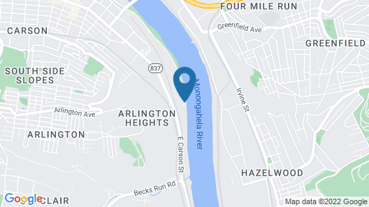 SpringHill Suites by Marriott Pittsburgh Southside Works Map
