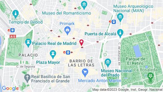 Petit Palace Alcalá Map
