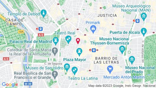 Jo Inn Madrid Map