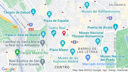 Hotel Intur Palacio San Martin Map