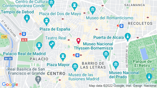 Petit Palace Tres Cruces Map