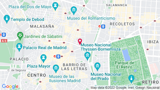 The Principal Madrid - Small Luxury Hotels Map