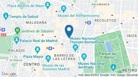 The Principal Madrid - Small Luxury Hotels of The World Map