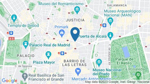 Iberostar Las Letras Gran Via Map