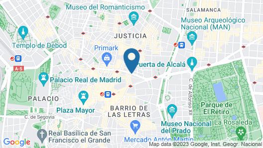 Catalonia Gran Vía Map