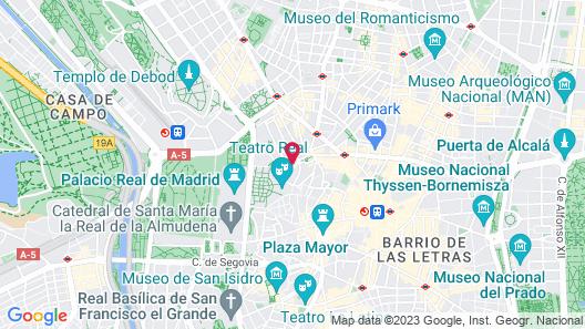 Palacio de los Duques Gran Meliá - The Leading Hotels of the World Map