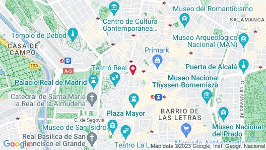 Hotel Preciados Map