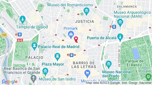 Hostal Luis XV Map