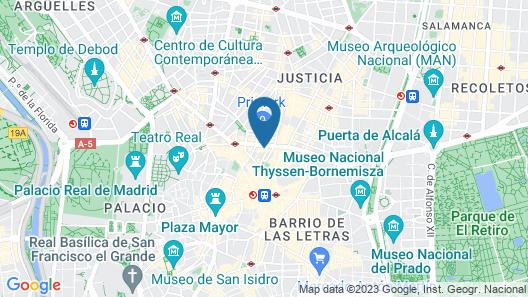 Pestana CR7 Gran Vía Madrid Map