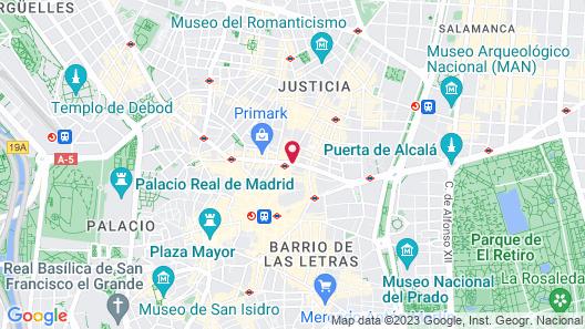 NH Collection Madrid Gran Vía Map