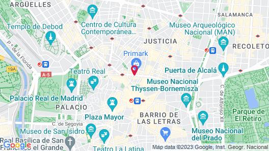 Hyatt Centric Gran Via Madrid Map