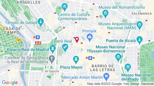 Aloft Madrid Gran Via Map