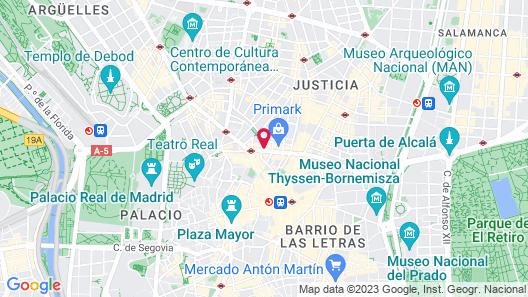 Hotel Atlantico Madrid Map