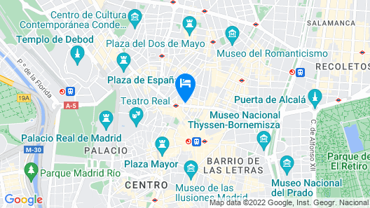 Hotel Atlantico Madrid Map