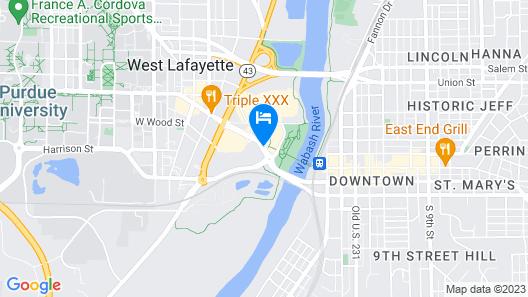 Hilton Garden Inn West Lafayette Wabash Landing Map