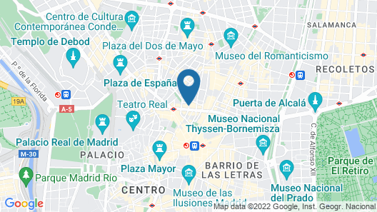 TRYP Madrid Cibeles Hotel Map